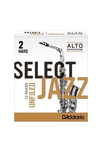 D'Addario Select Jazz Alto Saxophone Reeds Unfiled