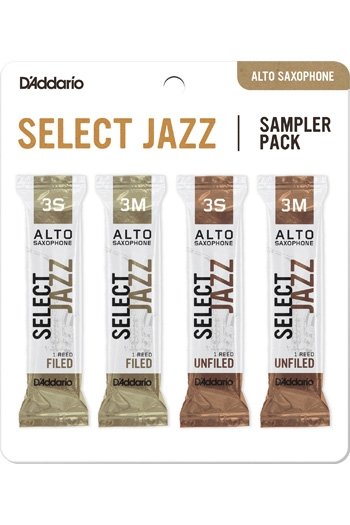 D'Addario Select Jazz Sampler Box 3S/3M - 4-pack Alto Reeds