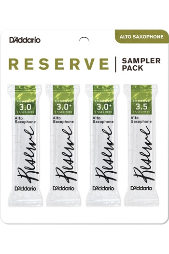 Alto Reeds D'Addario Reserve Sampler Box 3.0/3.0+/3.5 - 4-pack