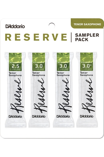 D'Addario Reserve Sampler Box 2.5/3.0/3.0+ - 4-pack Tenor Reeds