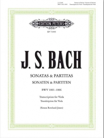 Sonatas & Partitas BWV1001-1006 Viola (Peters)