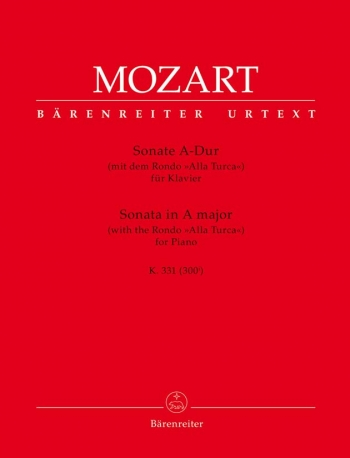 Sonata In A Major: K331: With Rondo Alla Turaca Piano (Barenreiter)