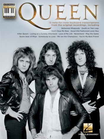 Queen: Note-For-Note Keyboard Transcriptions: Keyboard & Lyrics