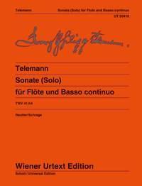 Sonate (Solo) TWV 41:h4 - Urtext - Flute And Basso Continuo (Wiener)