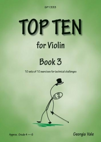 Top Ten Book 3: 10 Sets Of 10 Technical Challenges For Violin (Vale)