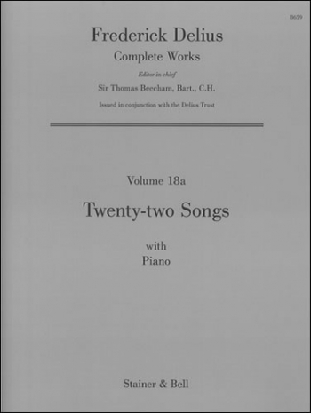 Twenty-two Songs With Piano Voice & Piano (Stainer & Bell)