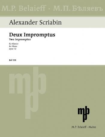 Two Impromptus, Op. 12: Piano (Belaieff)