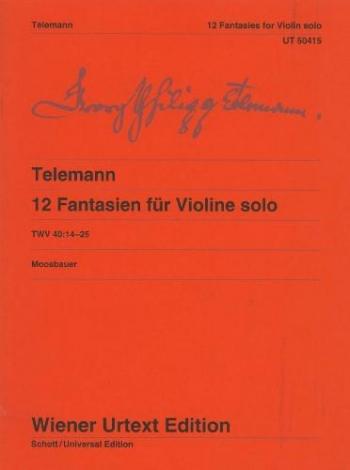 12 Fantasias: Violin Solo (Wiener)