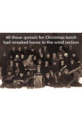 Music Christmas Card: All Those Sprouts Had Wreaked Havoc In The Wind Section