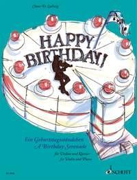 Happy Birthday: A Birthday Serenade Violin & Piano (Ludwig)