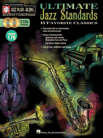 Jazz Play-Along Volume 170: Ultimate Jazz Standards Book & 2 CDs