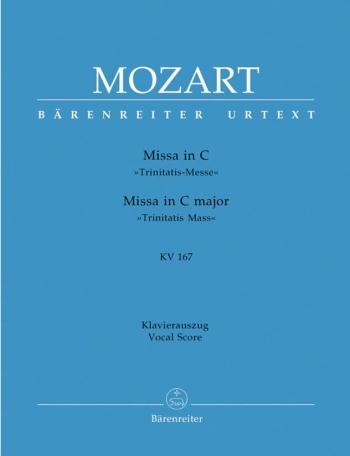 "Missa C Major K. 167 ""Trinitatis Mass"" Vocal Score (Barenreiter)"