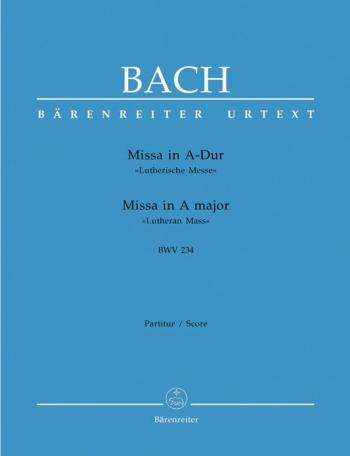 """Mass A Major BWV 234 """"Lutheran Mass 2"""" Vocal Score (Barenreiter)"""