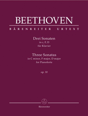 Piano Sonatas (3): Cminor F Major & D Major Op.10: Piano (Barenreiter)