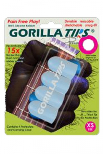 Gorilla Tips Finger Protectors - Xtra Small & Clear