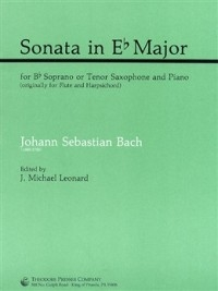 Sonata In Eb Major BWV 1031 Sop Or Tenor Sax & Piano (Presser)