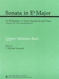 Sonata In Eb Major BWV 1031 Sop Or Tenor Sax & Piano (Presser)