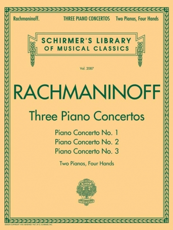 Three Piano Concertos: Nos. 1, 2, And 3: 2 Pians 4 Hands (Schirmer)