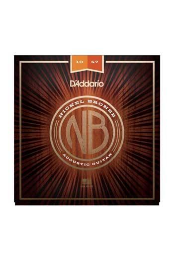 D'Addario Acoustic Guitar NB1047 Nickel Bronze Strings, Extra Light 10-47