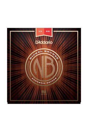 D'Addario Acoustic Guitar NB1356 Nickel Bronze Strings Medium, 13-56