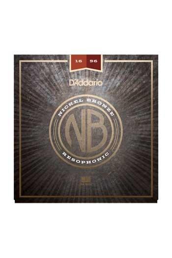 D'Addario Acoustic Guitar NB1656 Nickel Bronze Strings Resophonic, 16-56