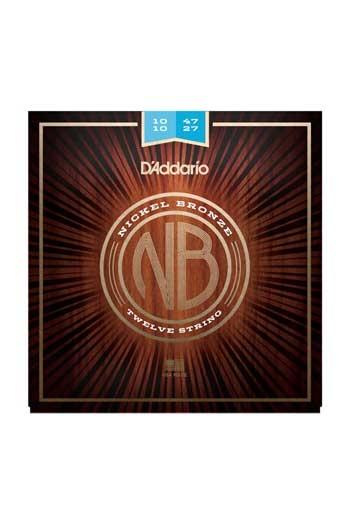 D'Addario 12 String Acoustic Guitar NB1047-12 Nickel Bronze Light 10-47