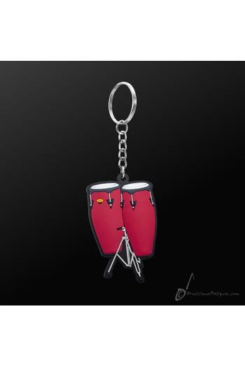 Keyring Conga Red
