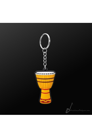 Keyring African Drum Yellow