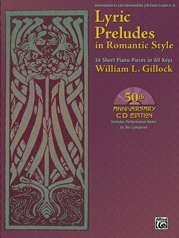 Lyric Preludes In Romantic Style: 24 Short Pieces In All Keys: Piano Solo Book & CD