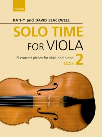 Solo Time For Viola Book 2: 15 Concert Pieces (Blackwell)