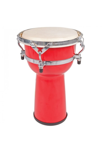 PP World Djembe - 20cm Red Tuneable