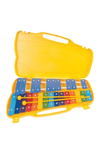 Glockenspiel - PP World 25 Note Coloured Metal Keys With Case