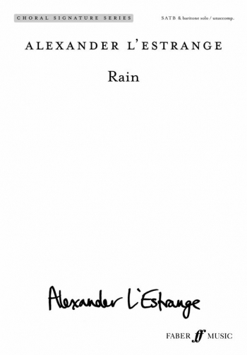 Rain: Vocal SATB And Piano