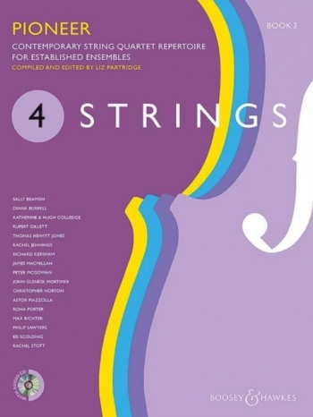 4 Strings - Book 3 Pioneer: Score & CD Contemporary String Quartet Repertoire