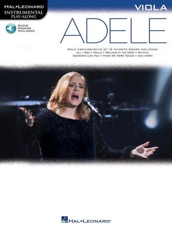 Instrumental Play-Along: Adele - Viola (Book/Online Audio)