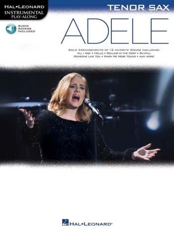 Instrumental Play-Along: Adele - Tenor Saxophone (Book/Online Audio)