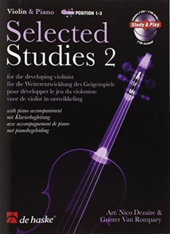 Selected Studies 2: Violin & Piano Book & 2CDs  (dezaire & Rompaey)