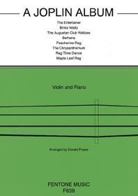Joplin Album: Violin & Piano Arr Fraser