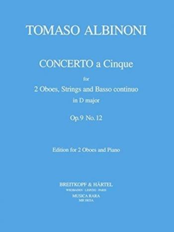Oboe Concerto Op.9/12: 2 Oboes & Piano (Breitkopf)