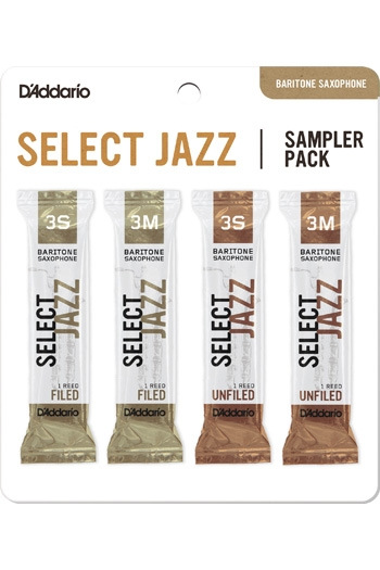D'Addario Select Jazz Sampler Box 3S/3M - 4-pack Baritone Reeds