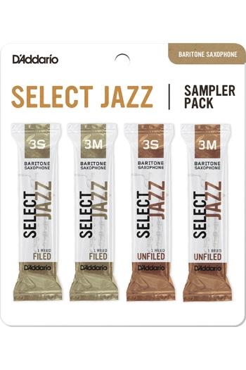 D'Addario Select Jazz Sampler Box 3S/3M - 4-pack Baritone Reeds