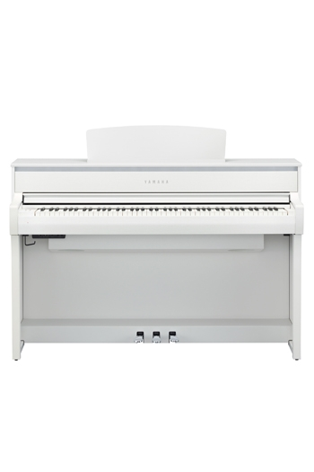 Yamaha CLP675 Clavinova Matt White Finish