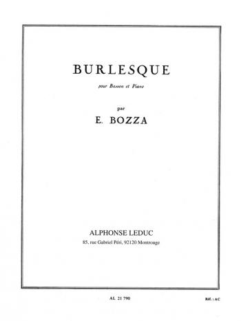 Burlesque For Bassoon & Piano (Leduc)