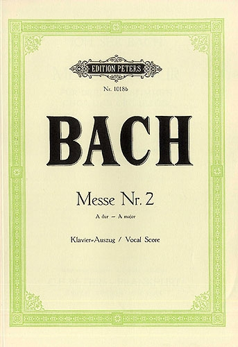 Mass In A Major: Bwv234: Vocal Score (Peters)