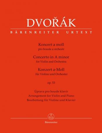 Concerto A Minor Op53: Violin & Piano (Barenreiter)