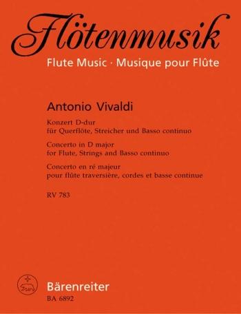 Concerto For Flute D Major RV783: Flute & Piano (Barenreiter)