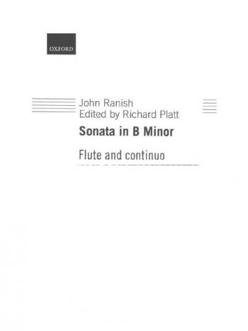 Sonata In B Minor Flute & Piano (OUP)