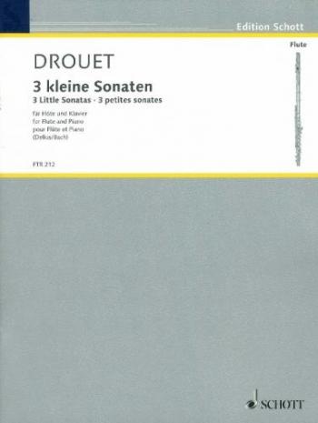 3 Little Sonatas Flute & Piano (Schott)