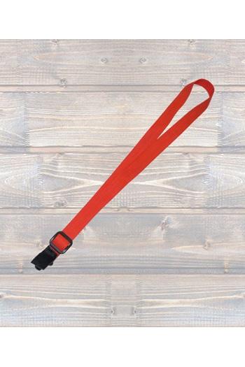 """Ukulele Strap Nylon Webbing 1"""" Red - Sling"""