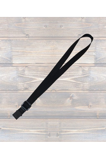 """Ukulele Strap Nylon Webbing 1"""" Black - Sling"""